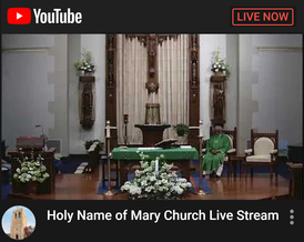 Holy Name Of Mary Live Stream